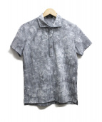 EPOCA UOMO(エポカウォモ)の古着「シアサッカーS/Sプルオーバーシャツ」|ブラック