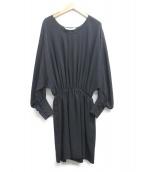 MARIHA(マリハ)の古着「シルクブラウスワンピース」 ブラック