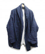 Honnete(オネット)の古着「ショールカラージャケット」|ブルー