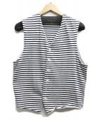 Engineered Garments(エンジニアードガーメン)の古着「ボーダーベスト」|ホワイト×ブラック