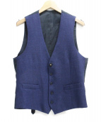 LARDINI(ラルディーニ)の古着「ウール切替ジレ」 ネイビー