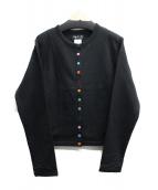 agnes b(アニエスベー)の古着「スウェットカーディガン」|ブラック