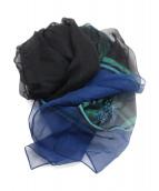 GUCCI(グッチ)の古着「シルクスカーフ」|ブルー