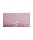 BVLGARI(ブルガリ)の古着「ロゴクリップ長財布」 ピンク