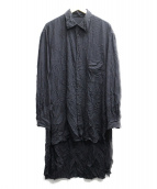 Yohji Yamamoto(ヤマモトヨウジ)の古着「ツイルシワ加工スタッフシャツ」|ブラック