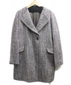 Reflect(リフレクト)の古着「スモーキーツイードコート」|パープル