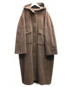 SONIA RYKIEL(ソニアリキエル)の古着「フーテッドロングコート」|ブラウン