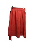 UNTITLED(アンタイトル)の古着「サッシュベルト付ミニスカート」|レッド