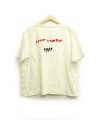 Saint Laurent Paris(サンローランパリ)の古着「バックロゴ刺繍Tシャツ」|ホワイト