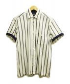BLACK LABEL CRESTBRIDGE(ブラックレーベルクレストブリッジ)の古着「ラッセルレジメンタルシャツ」|ブルー×ホワイト