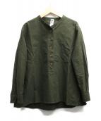 MHL.(エムエイチエル)の古着「スウィングシャツ」|カーキ