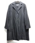 ARTISAN(アルティザン)の古着「シルク混チェスターコート」|ネイビー