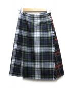 ONEIL OF DUBLIN(オニール・オブ・ダブリン)の古着「ラップスカート」 レッド