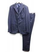 BARBA(バルバ)の古着「ウールストライプセットアップスーツ」|ブルー