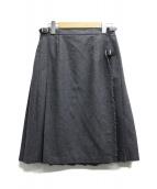 ONEIL OF DUBLIN(オニール オブ ダブリン)の古着「ウールラップスカート」|グレー