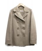 S Max Mara(エス マックスマーラ)の古着「アンゴラ混ダブルコート」|キャメル