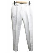 NARA CAMICIE(ナラカミーチェ)の古着「センタープレスパンツ」|ホワイト