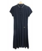 BLACK LABEL CRESTBRIDGE(ブラックレーベルクレストブリッジ)の古着「ポロシャツワンピース」 ネイビー