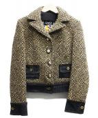 DOLCE & GABBANA(ドルチェ&ガッバーナ)の古着「ウール切替ジャケット」|ブラウン