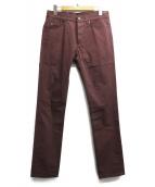 LANVIN(ランバン)の古着「スキニーパンツ」|バーガンディー