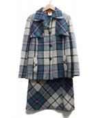 MISSONI(ミッソーニ)の古着「モヘヤ混ニットセットアップ」|ブルー