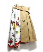 Ameri VINTAGE(アメリビンテージ)の古着「MEDI TRENCH PRINT SKIRT」|マルチカラー