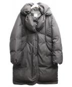 ARMANI COLLEZIONI(アルマーニコレツィオーニ)の古着「ショールカラーダウンコート」|ブラウン