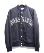 BUENA VISTA(ブエナビスタ)の古着「ヴァーシティジャケット」|ネイビー