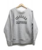 STANDARD CALIFORNIA(スタンダードカルフォルニア)の古着「Reverse Weave Pullover Crew」|グレー