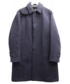 COMOLI(コモリ)の古着「メルトンバルカラーコート」|ネイビー