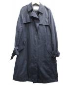 BALLSEY(ボールジィー)の古着「コットンシャンブレートレンチコート」|ネイビー
