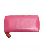 LOEWE()の古着「タッセルチャームラウンドファスナーウォレット」|ピンク