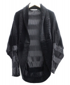 MaxMara(マックスマーラ)の古着「プリーツドルマンーカーディガン」|ブラック