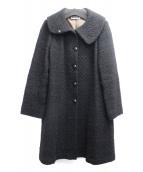 Jocomomola(ホコモモラ)の古着「ブークレコート」|ブラック