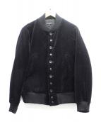 Engineered Garments(エンジニアードガーメンツ)の古着「ベロアボンバージャケット」|ブラック