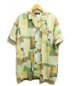 Yves Saint Laurent(イブサンローラン)の古着「総柄パジャマシャツ」|グリーン