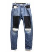 Calvin Klein Jeans(カルバンクラインジーンズ)の古着「パッチワークデニムパンツ」|インディゴ
