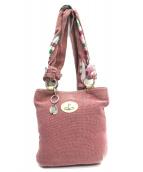 Vivienne Westwood(ヴィヴィアンウエストウッド)の古着「キャンバストートバッグ」 ピンク