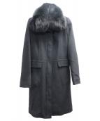 VICKY(ビッキー)の古着「アンゴラ混フォックスファーコート」|ブラック