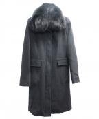 VICKY(ビッキー)の古着「アンゴラ混フォックスファーコート」 ブラック
