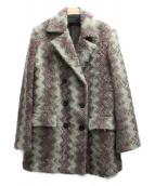 MISSONI(ミッソーニ)の古着「総柄ミックスウールコート」|マルチカラー