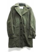 MHL(エムエイチエル)の古着「フード付ステンカラーコート」|カーキ