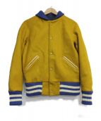 SKOOKUM(スクーカム)の古着「メルトンアワードジャケット」|イエロー