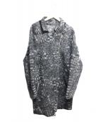 DIESEL(ディーゼル)の古着「ジャガードニットコート」|ベージュ