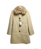 VICKY(ビッキー)の古着「アンゴラ混フォックスファーコート」|キャメル