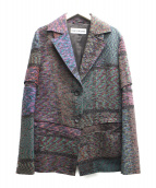 ISSEY MIYAKE(イッセイミヤケ)の古着「ジャガードテーラードジャケット」 マルチカラー
