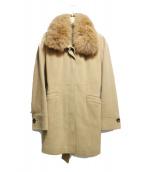 VICKY(ビッキー)の古着「ステンカラーコート」|キャメル