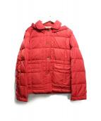 MHL(エムエイチエル)の古着「フーデッドダウンジャケット」|レッド