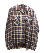 Needles(ニードルス)の古着「Cut-Off Bottom Classic Shirt」|ブラウン