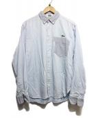 eYe COMME des GARCONS JUNYAWATANABE MAN(アイコムデギャルソンジュンヤワタナベマン)の古着「コラボボタンダウンシャツ」|サックスブルー